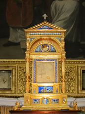 Relicario que contiene el Corporal del Milagro Eucarístico de Bolsena